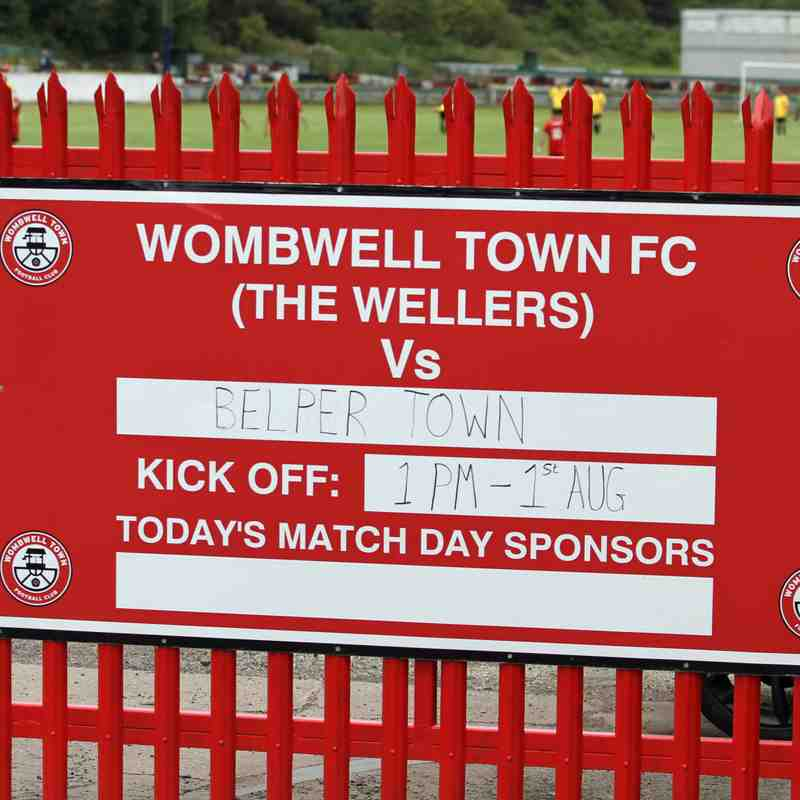 Wombwell Town vs Belper Town 01Aug20