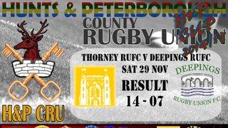 Thorney RUFC v Deepings RUFC