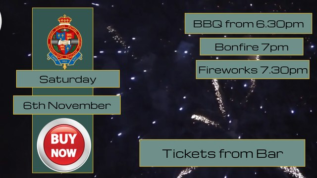 Annual Bonfire Night - Tickets are now on Sale !