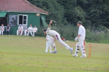 Eric opens the bowling up the hill, some might say desperate for wickets.
