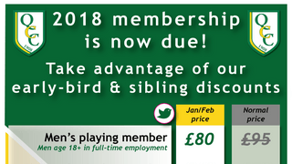 ONLY A FEW DAYS LEFT TO GET REDUCED MEMBERSHIPS IN 2018!
