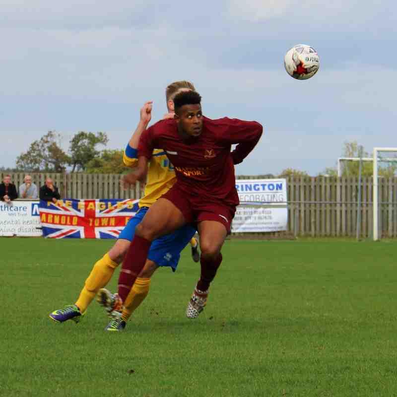 Gedling MW away at Arnold Town in the FA Vase - 2015-16 Season