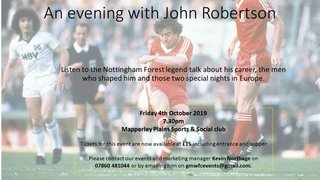 Gedling to host an evening with John Robertson