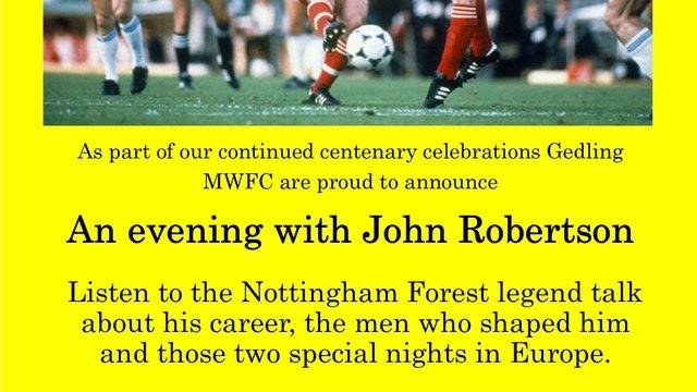 John Robertson speakers evening update