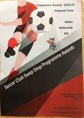 Soccer Club Swap Shop Programme Awards 2018/19