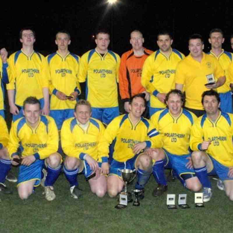 AFC Walnut's Dvision Four Cup winning side in a season which also saw them clinch promotion.