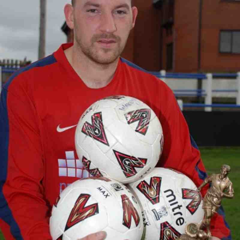 Redoubt's cup final hat-trick hero Colin Williamson.