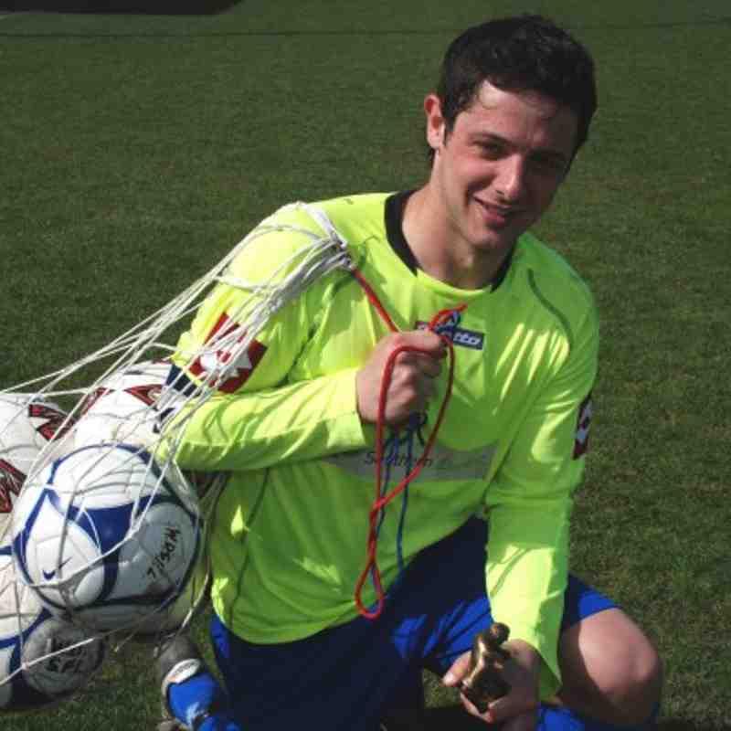 Kinsley's cup final hat-trick hero Liam Radford.