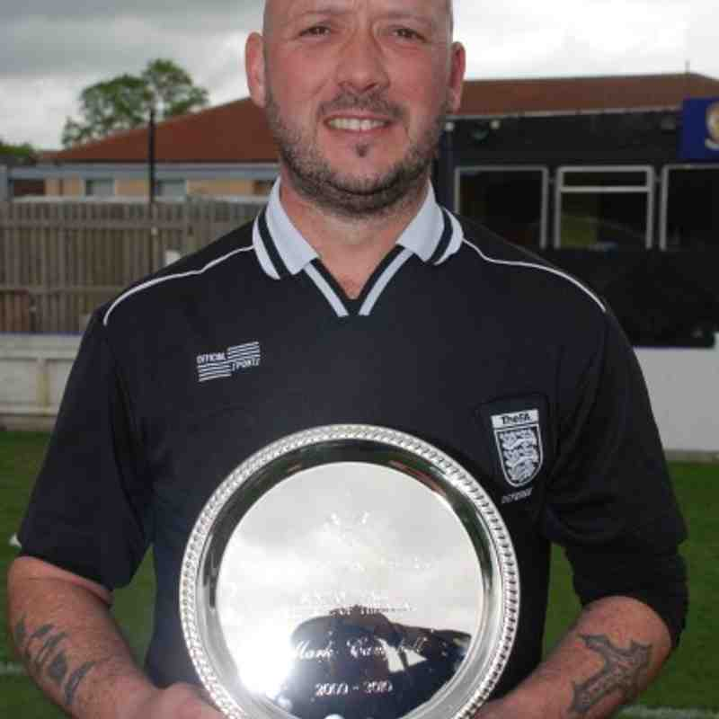 Referee Of The Year Mark Campbell.