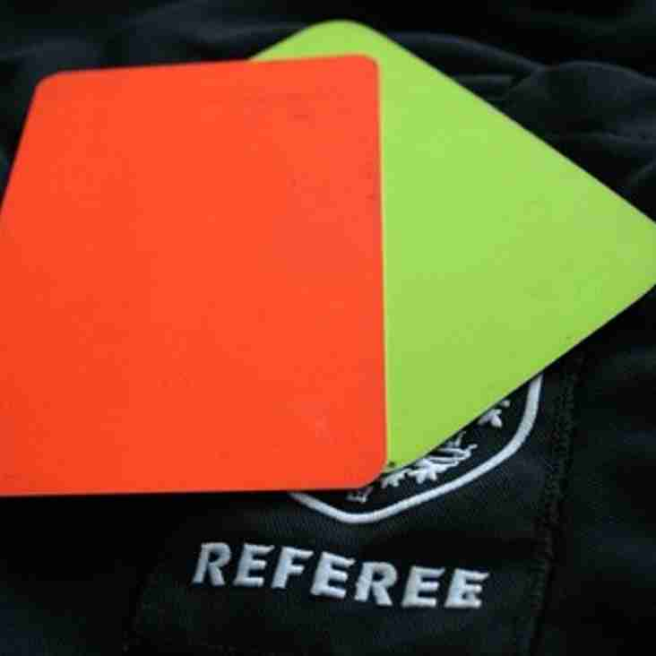 News For All Referees!