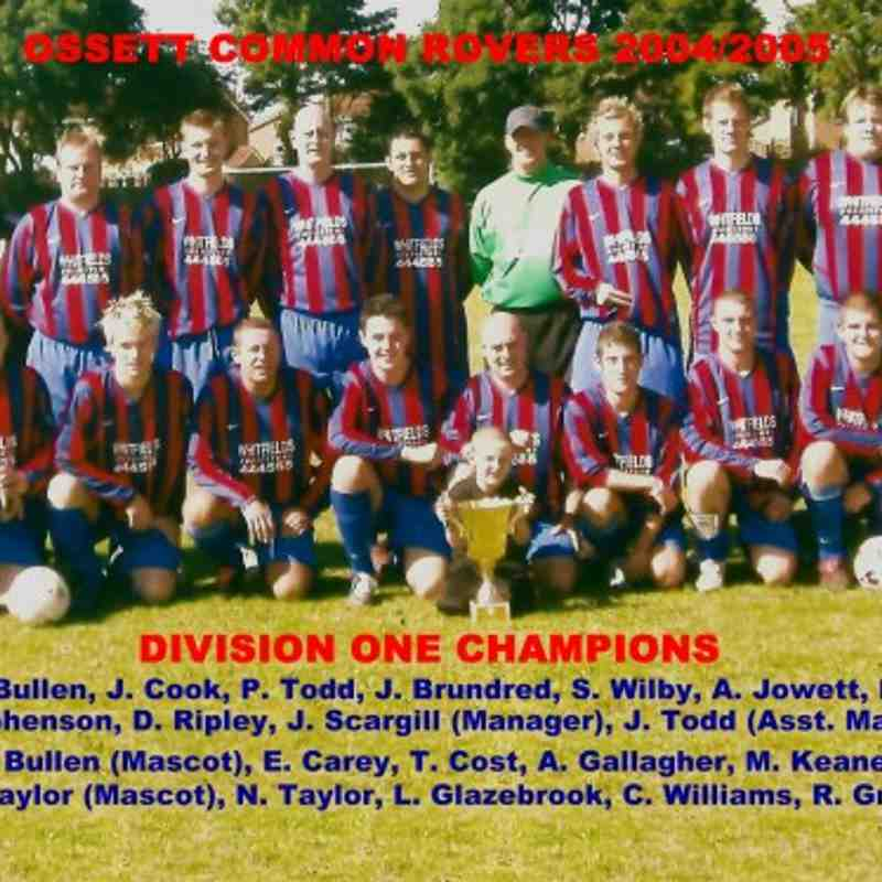 Ossett Common Rovers Division 1 Championship Winning Side