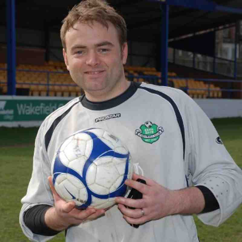 Carr Gate's legendary 'keeper Gareth Earnshaw who scored the equaliser with just 27 seconds left of extra-time. He also despatched a penalty!