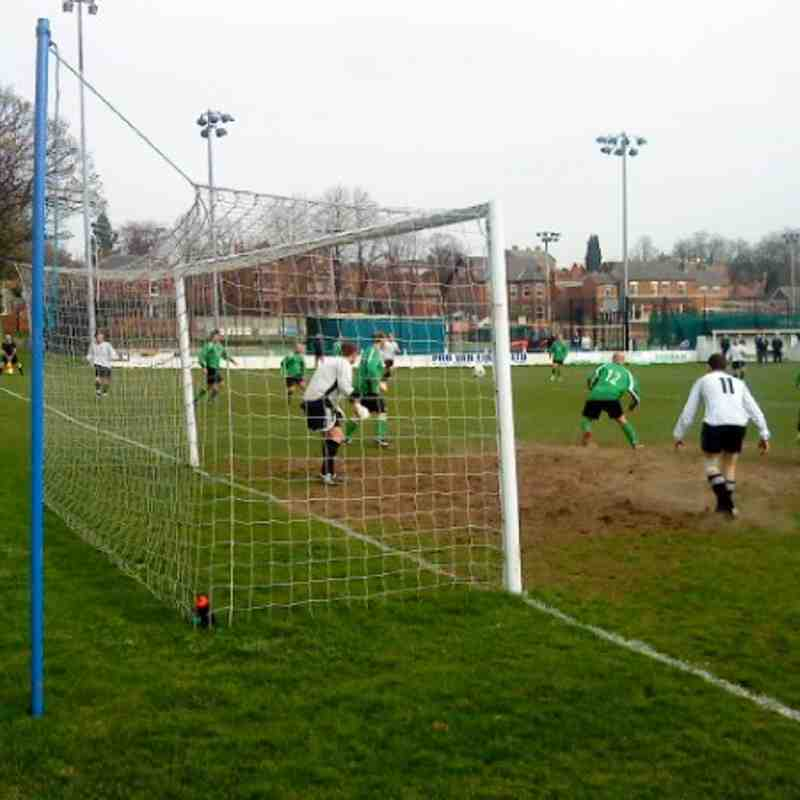 Goalmouth action in the Division Four League Cup Final.
