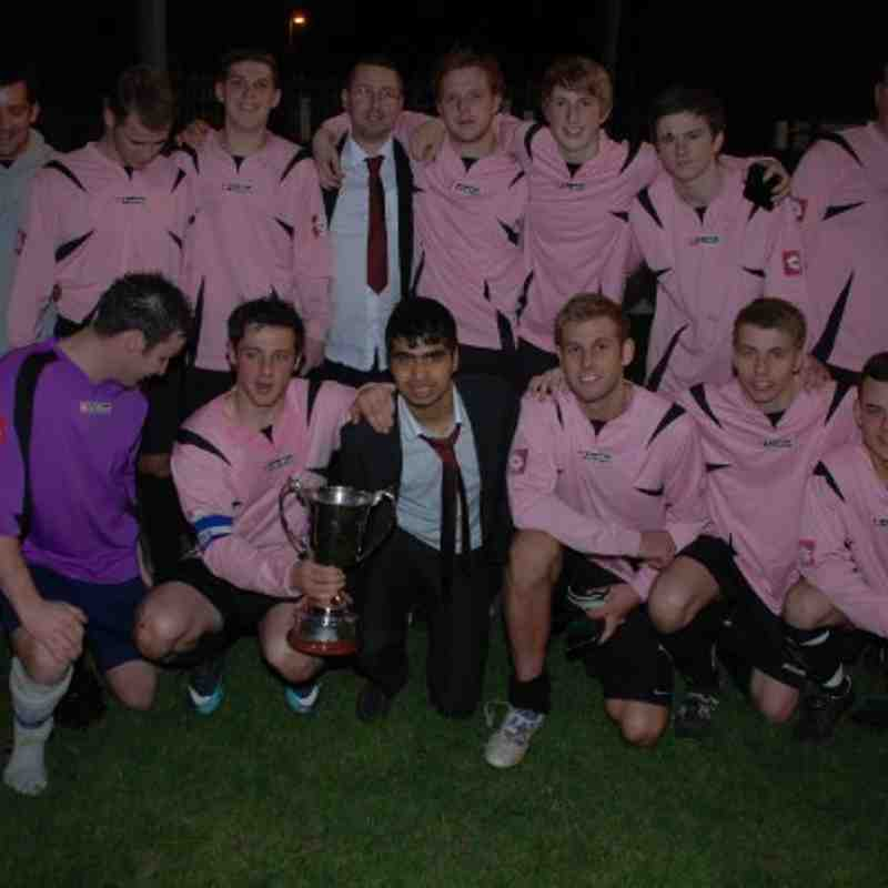 League Champions Kinsley celebrate the Division One title after going unbeaten forever. (Well, for a couple of years anyway!)
