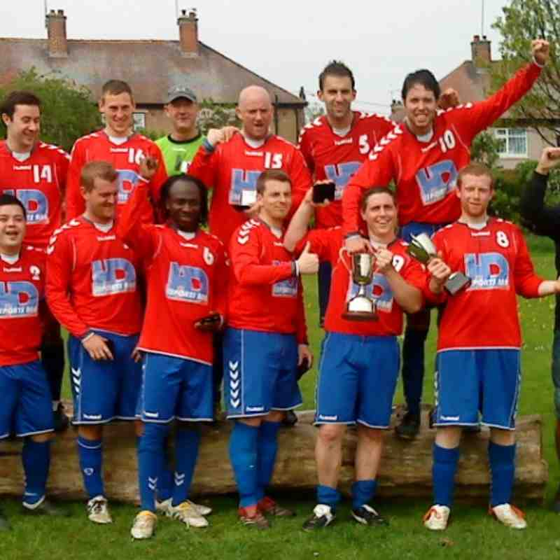 HD Sports celebrate historic back-to-back League and Cup doubles at Denhale Road.