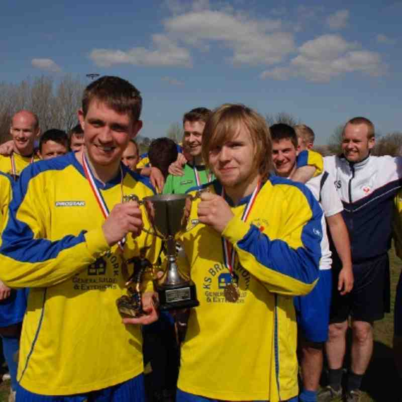 Skipper and scorer. Cup Final heroes Lee Rushton and skipper Matthew Booth enjoying their Cup win.