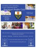 The BRUFC Club House For Hire
