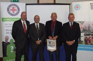 Paul MacDonald, Dave Rawcliffe, Keith Johnson & Vaughan Woolfitt at the WRCFA Charter Standard Awards.