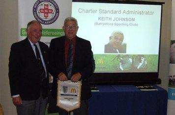 Keith Johnson with WRCFA President Peter Marsden