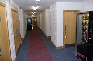 Changing room corridor