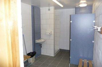 One of referees changing rooms