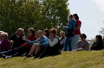 The 'grandstand' was full of Loddiswell supporters!
