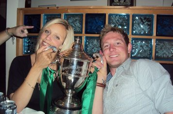 What a lovely couple.... Selina and the Devon Senior Cup that is ; )