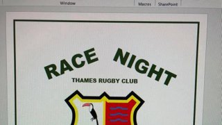 Race Night 6th April 2019 at 7.30PM