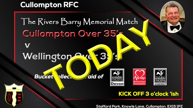 Today's the day - The Rivers Barry Memorial Game