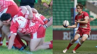 Former Longlevens players in Championship Game: Tom Griffiths (London Scottish) v Robbie Smith (Hartpury)