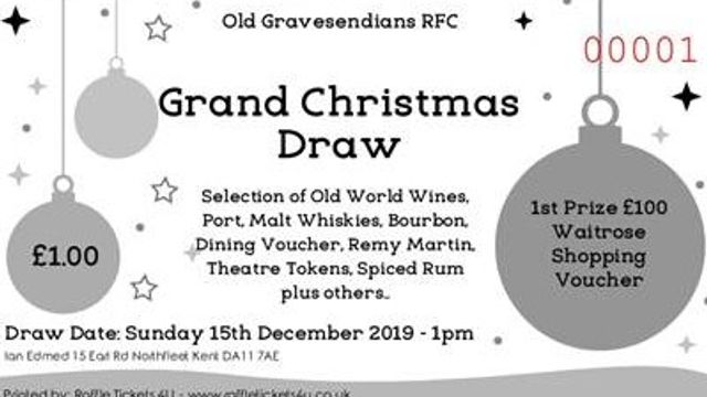 Old Gravesendians Christmas Raffle 2019