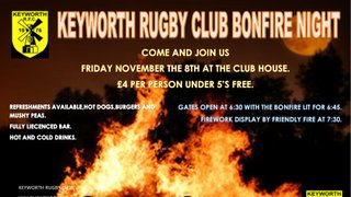 BONFIRE AND FIREWORKS AT THE CLUB