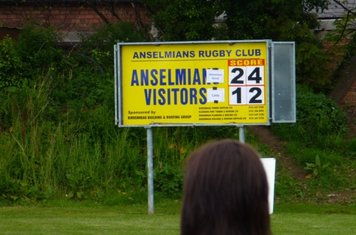 scoreboard - we were the home side on neutral ground by the way