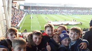 Under 11s at Leicester Tigers 25.11.18