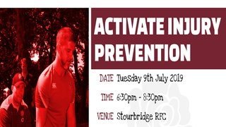 Activate Injury Prevention - RFU FREE Course