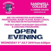 Sandwell College Open Evening at Stourbridge Rugby