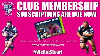 Club Membership Subscriptions Due Now