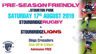 Stour's Teams to play Dings Crusaders this Saturday
