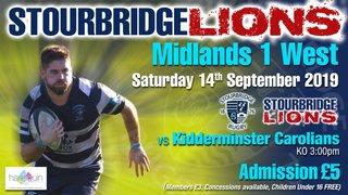 Stourbridge Lions vs Kidderminster Carolians