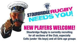Stourbridge Rugby Needs You!