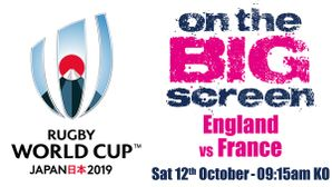 England vs France on the BIG Screens