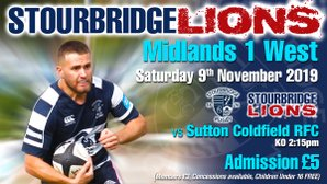 Stourbridge Lions vs Sutton Coldfield RFC