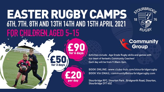 Easter Rugby Camps at Stour