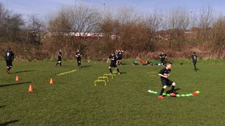 Under 12's training session