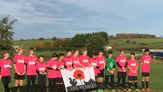 LS27 FC pay their respects on Remembrance Sunday