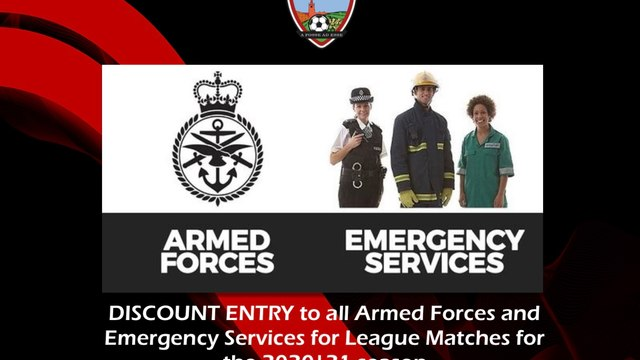 DISCOUNTED Entry To All Armed Forces & Emergency Services