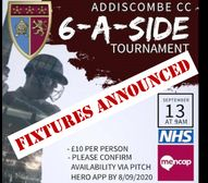 Charity 6-a-side: fixtures announced