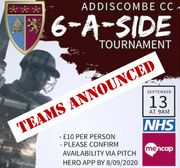 Charity 6-a-side: teams announced