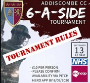 Charity 6-a-side: competition rules