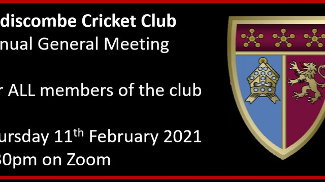 Addiscombe CC's Annual General Meeting : 11th February